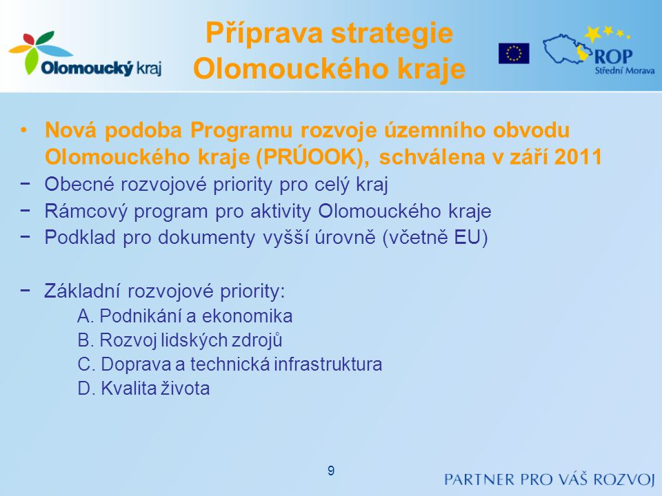 Příprava strategie Olomouckého kraje