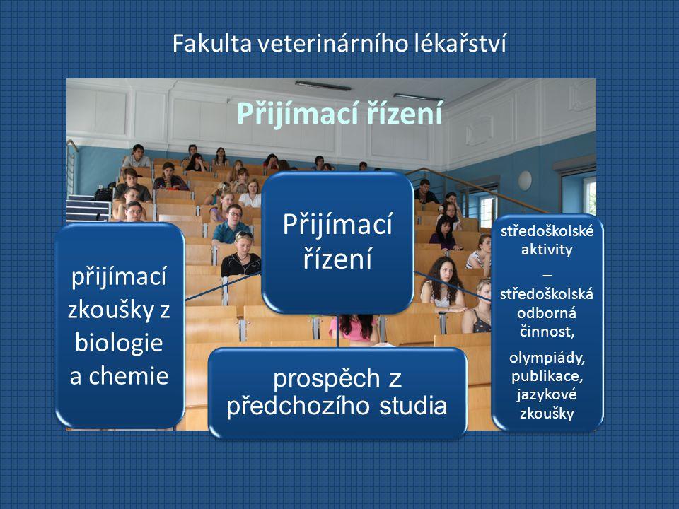 Fakulta veterinárního lékařství Přijímací řízení