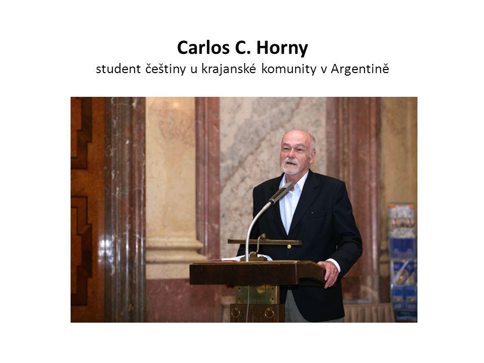 Carlos C. Horny student češtiny u krajanské komunity v Argentině