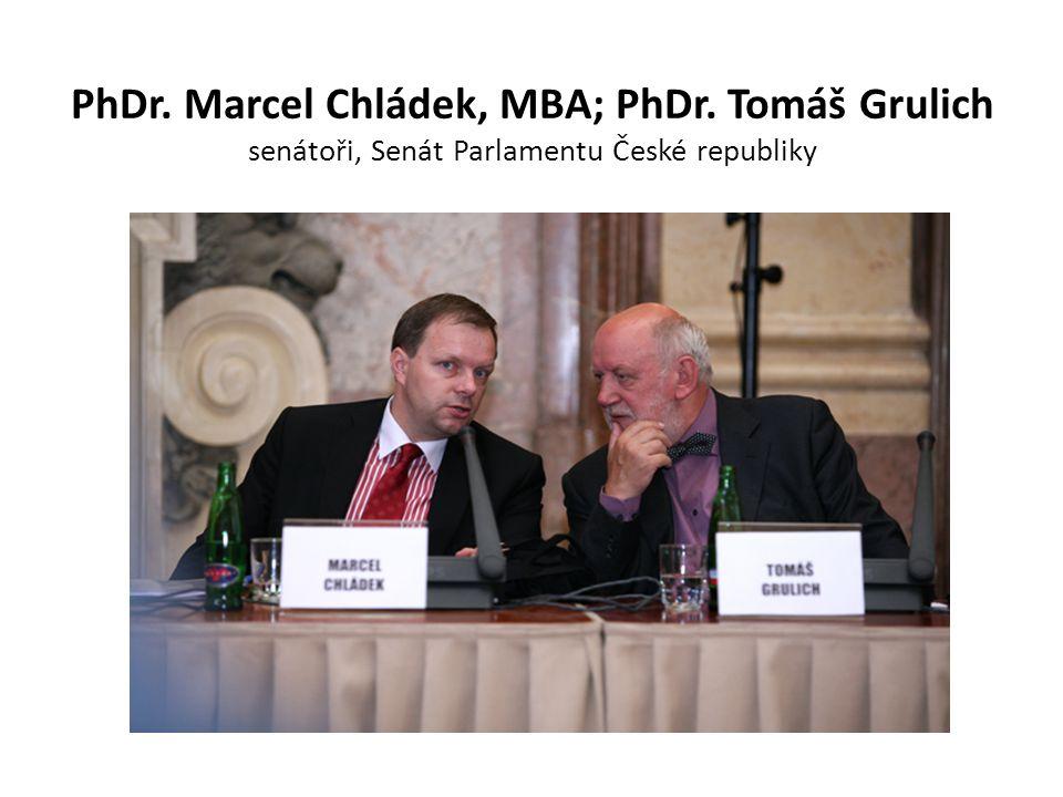 PhDr. Marcel Chládek, MBA; PhDr