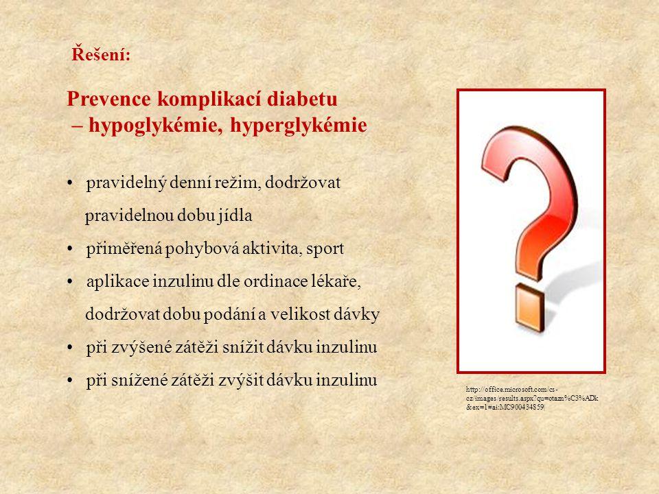 Prevence komplikací diabetu – hypoglykémie, hyperglykémie