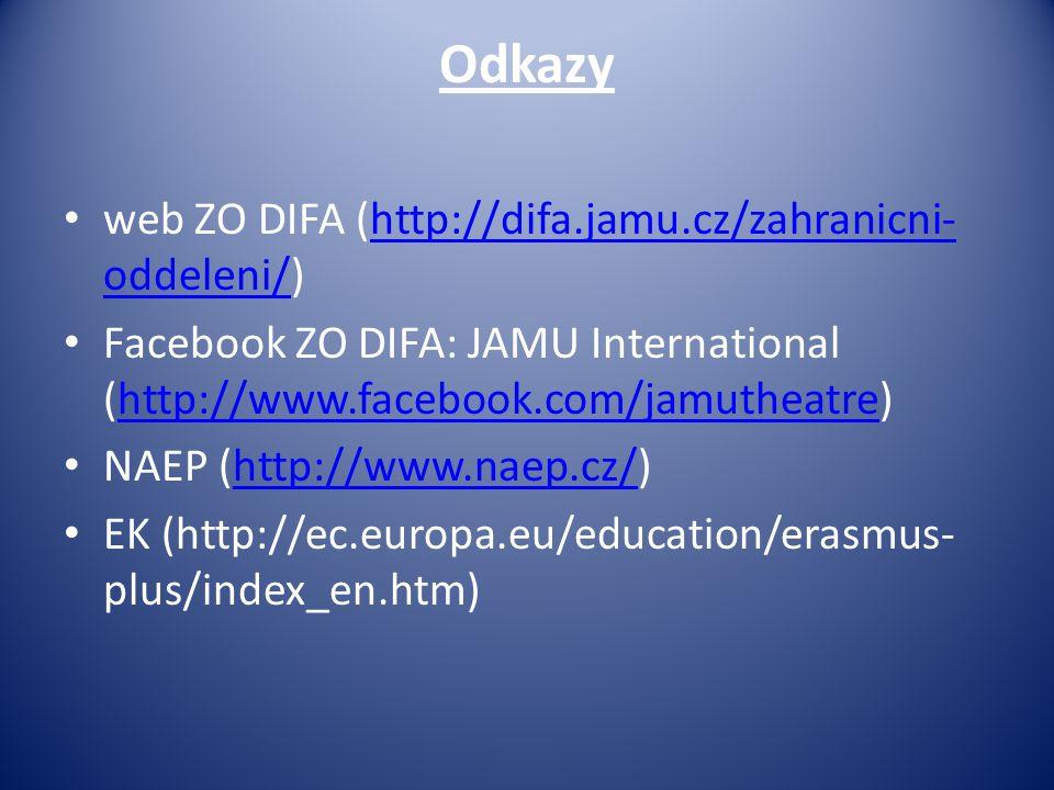 Odkazy web ZO DIFA (http://difa.jamu.cz/zahranicni-oddeleni/)