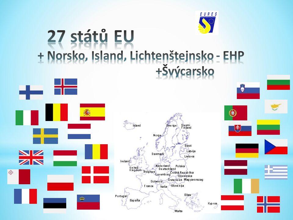 27 států EU + Norsko, Island, Lichtenštejnsko - EHP +Švýcarsko