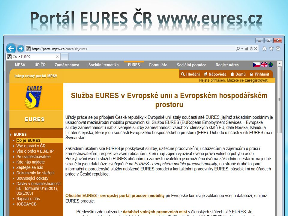 Portál EURES ČR www.eures.cz