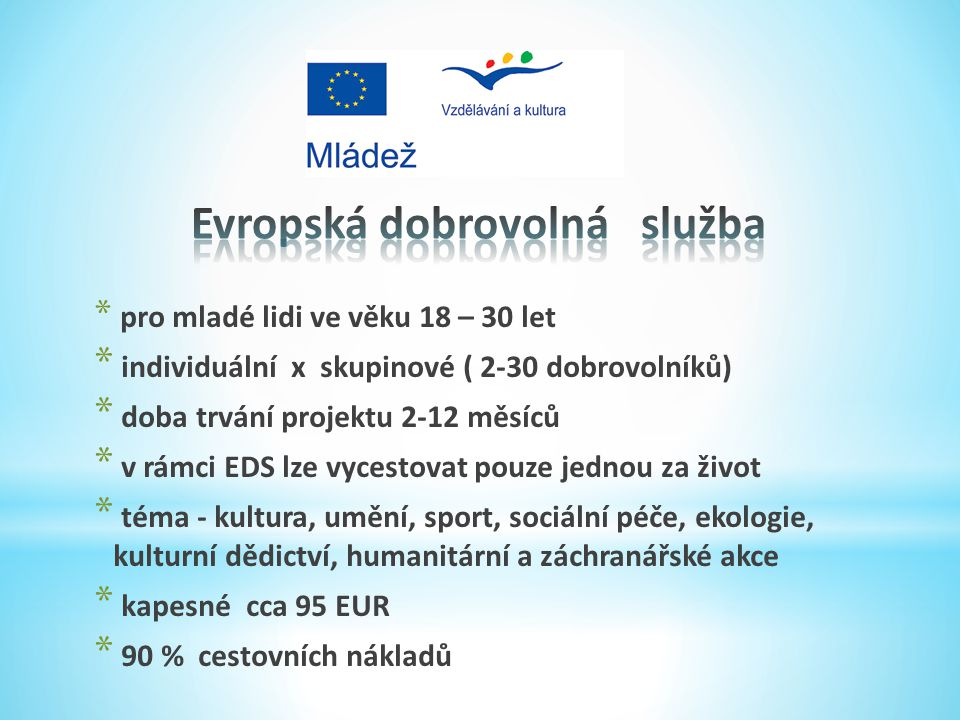 Evropská dobrovolná služba