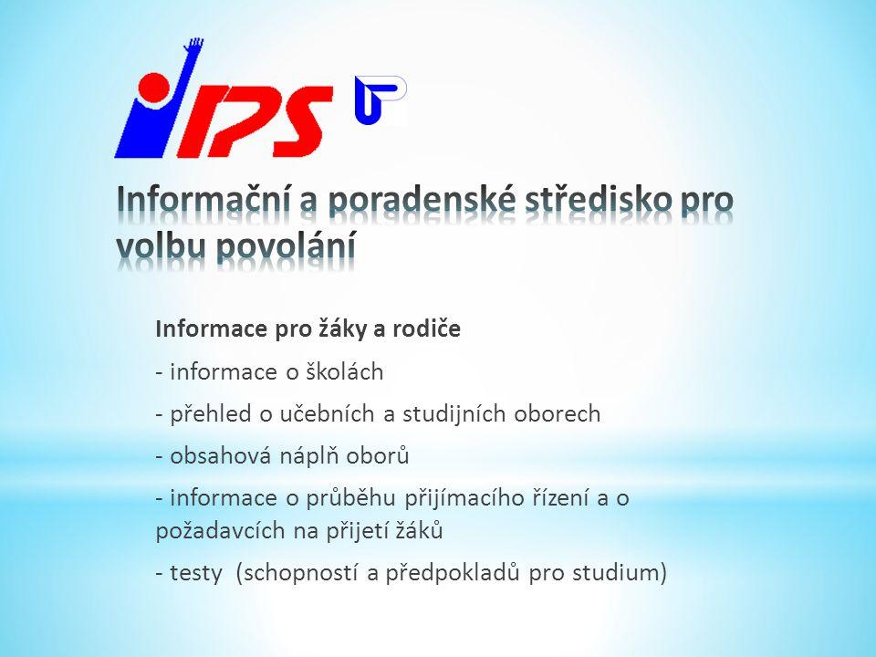 Informační a poradenské středisko pro volbu povolání