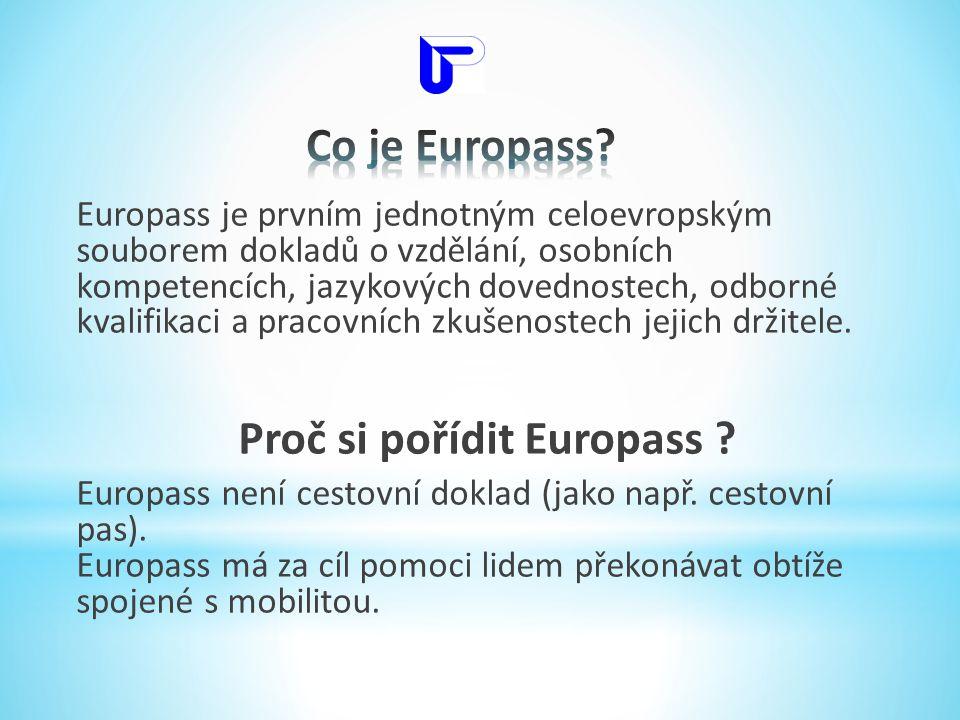 Proč si pořídit Europass