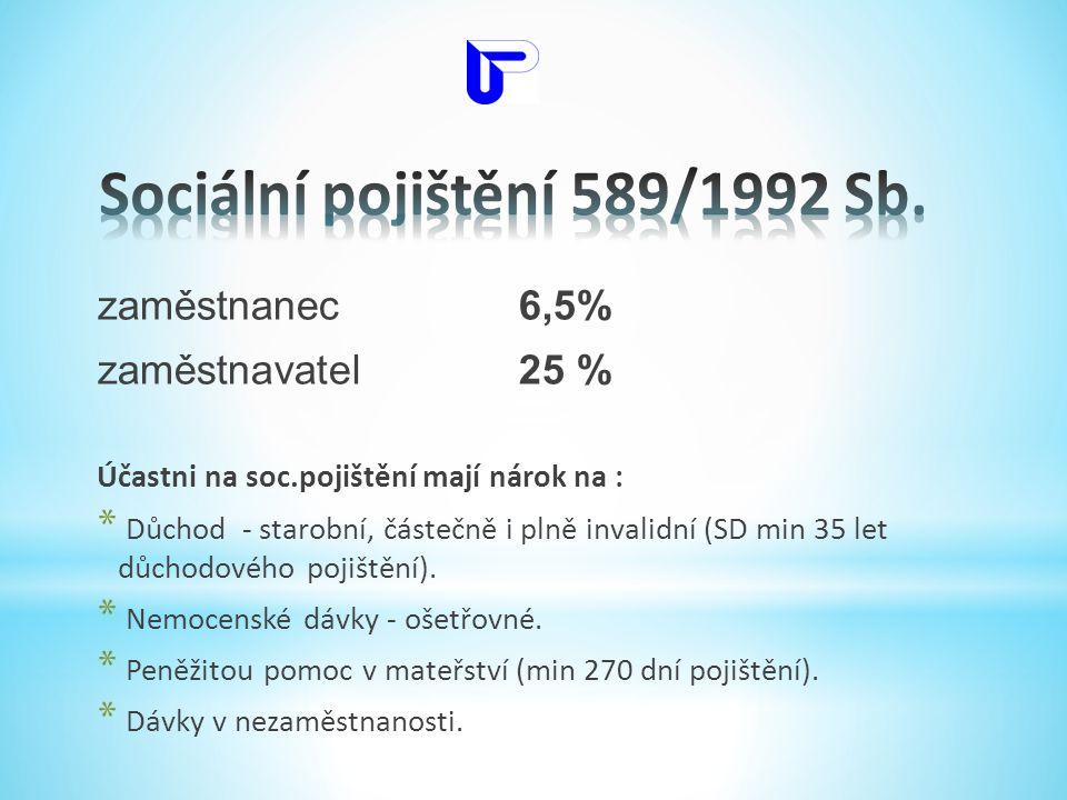Sociální pojištění 589/1992 Sb.