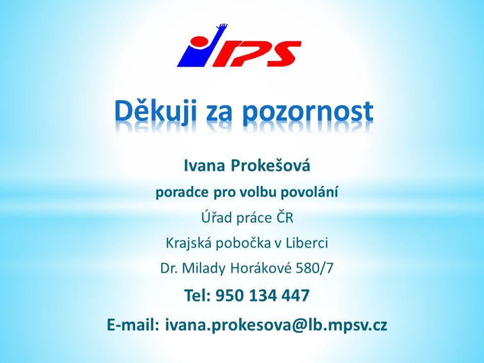 poradce pro volbu povolání E-mail: ivana.prokesova@lb.mpsv.cz