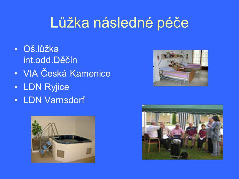 Lůžka následné péče Oš.lůžka int.odd.Děčín VIA Česká Kamenice