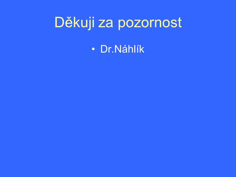 Děkuji za pozornost Dr.Náhlík