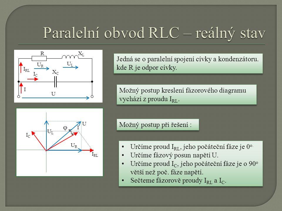 Paralelní obvod RLC – reálný stav