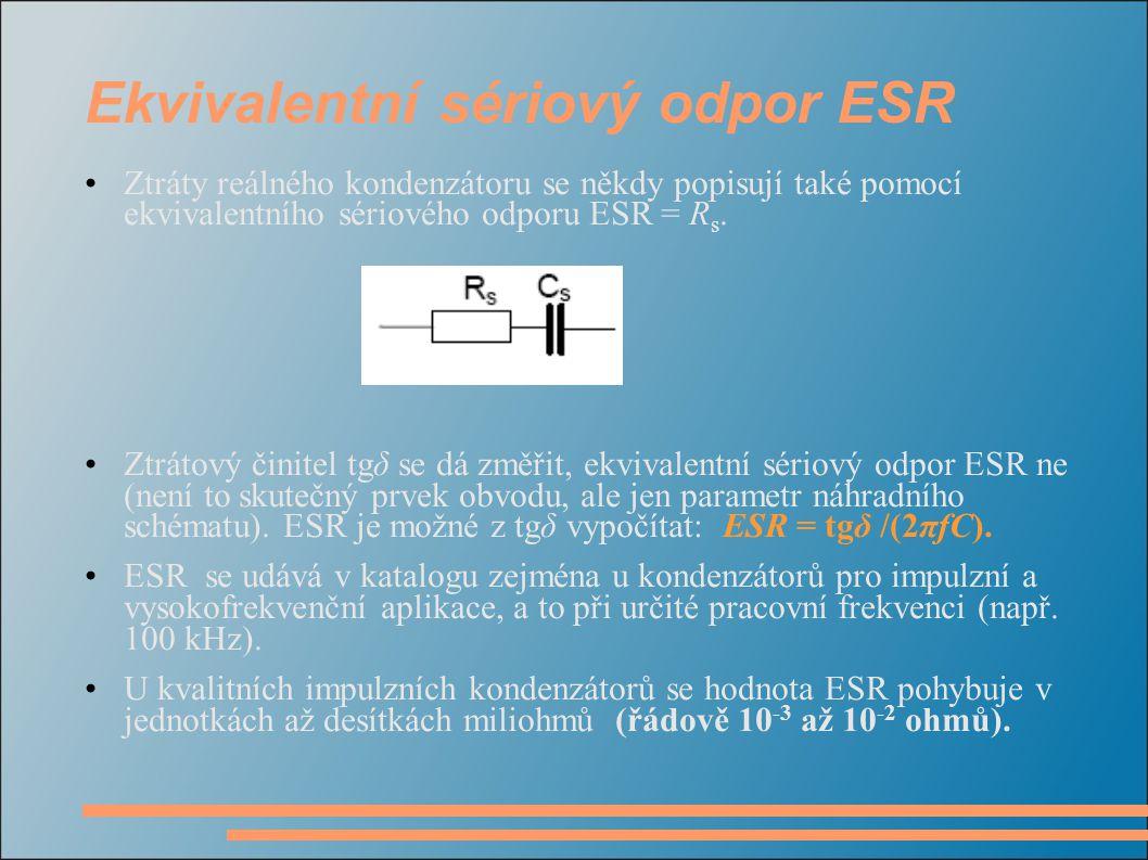 Ekvivalentní sériový odpor ESR