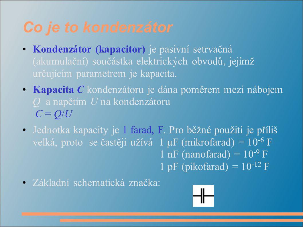 Co je to kondenzátor