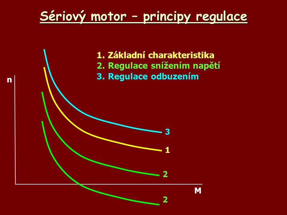 Sériový motor – principy regulace