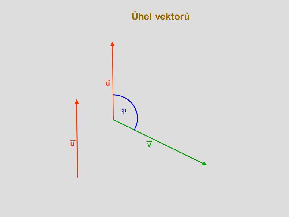 Úhel vektorů u j u v