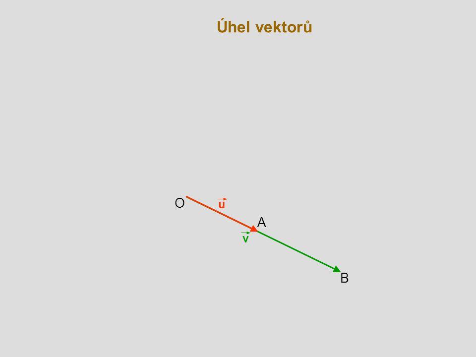 Úhel vektorů O u A v B