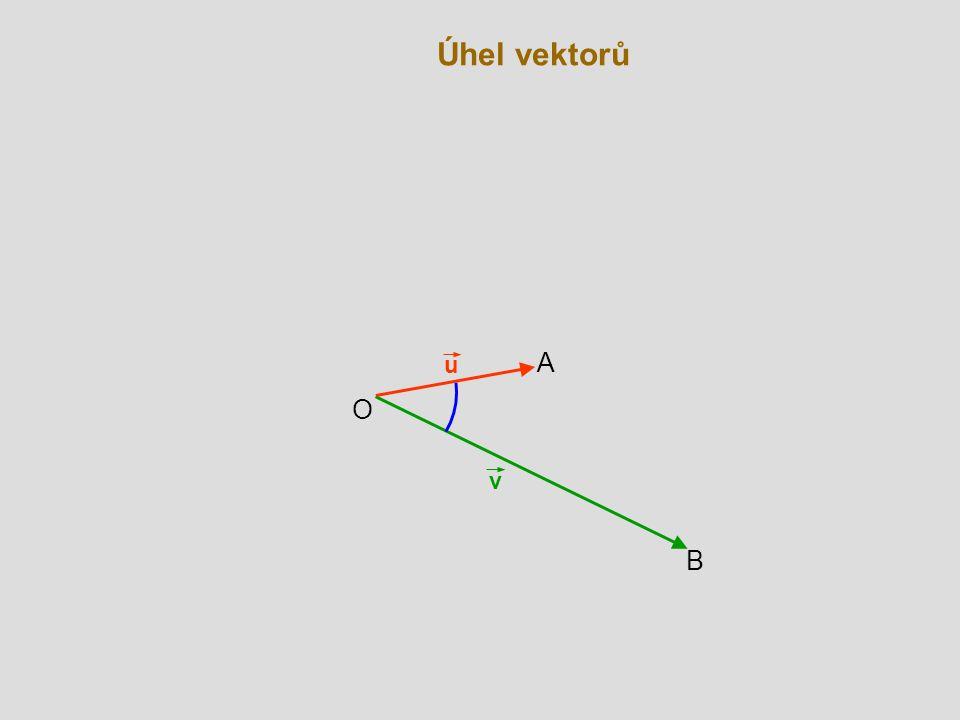 Úhel vektorů u A O v B