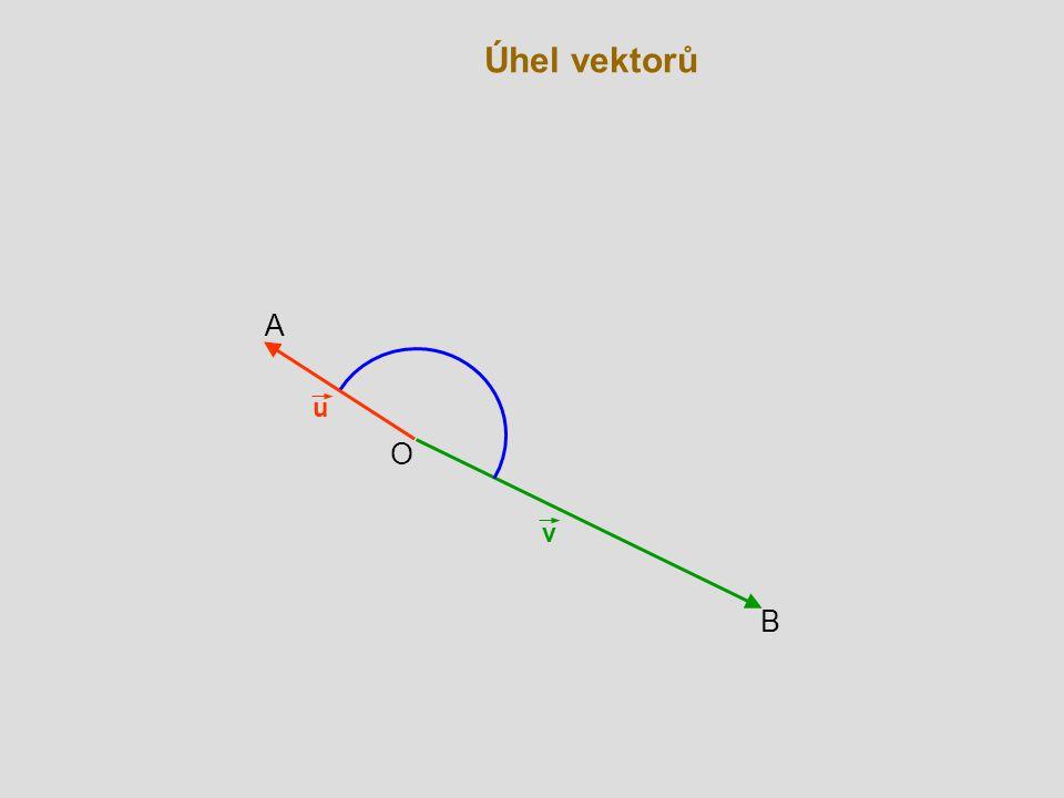 Úhel vektorů A u O v B