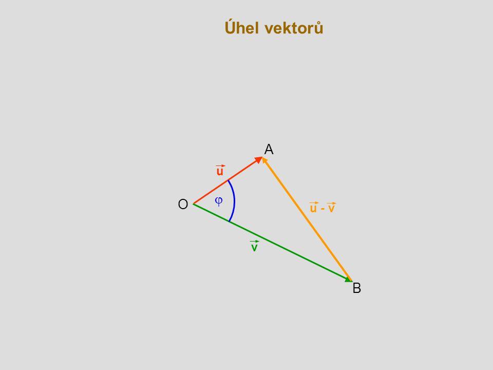 Úhel vektorů A u j O u - v v B