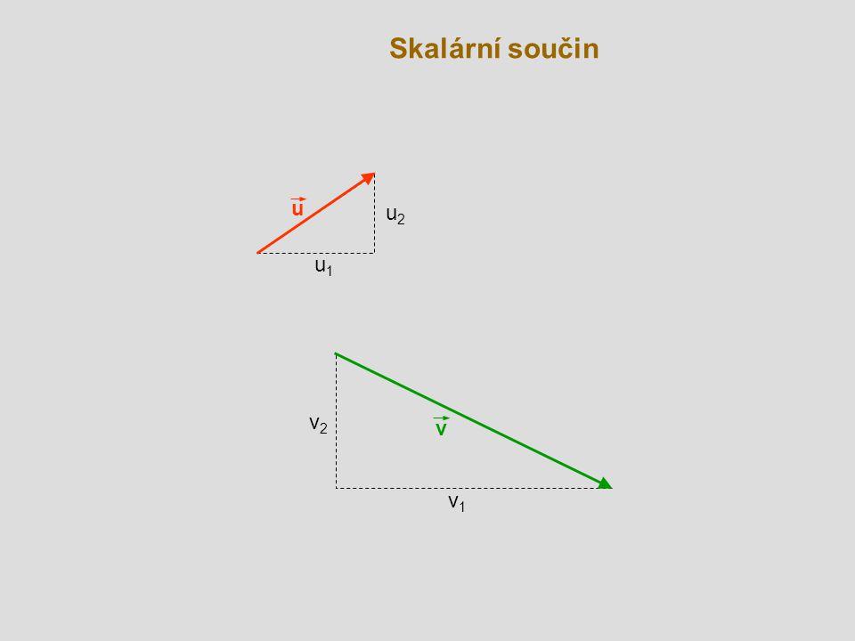 Skalární součin u u2 u1 v2 v v1