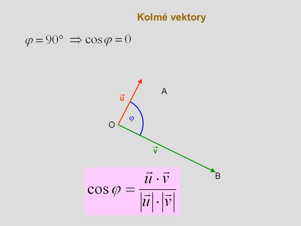 Kolmé vektory A u j O v B