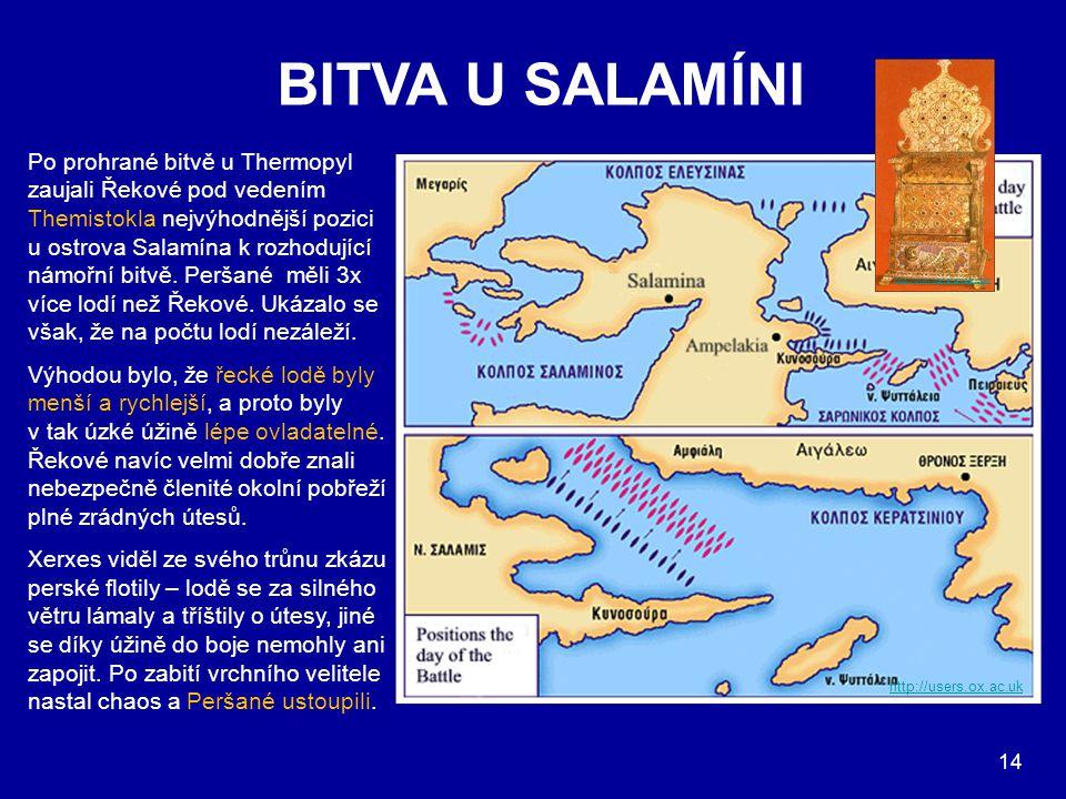 BITVA U SALAMÍNI Po prohrané bitvě u Thermopyl