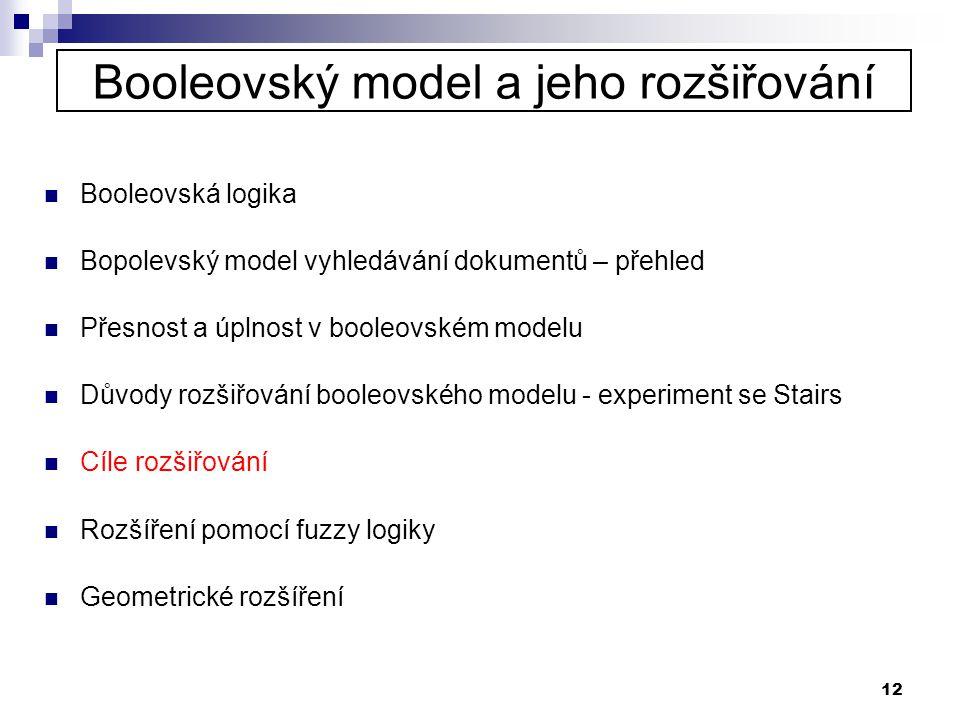 Booleovský model a jeho rozšiřování
