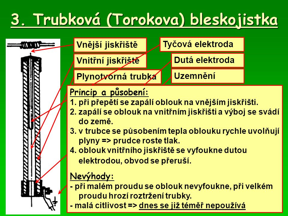 3. Trubková (Torokova) bleskojistka
