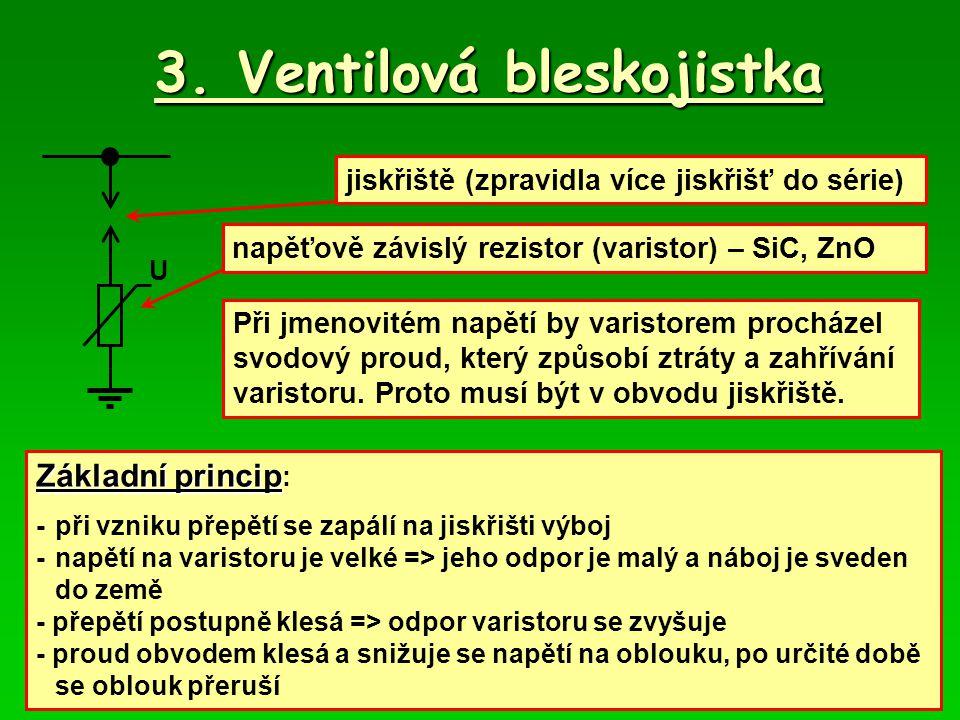 3. Ventilová bleskojistka