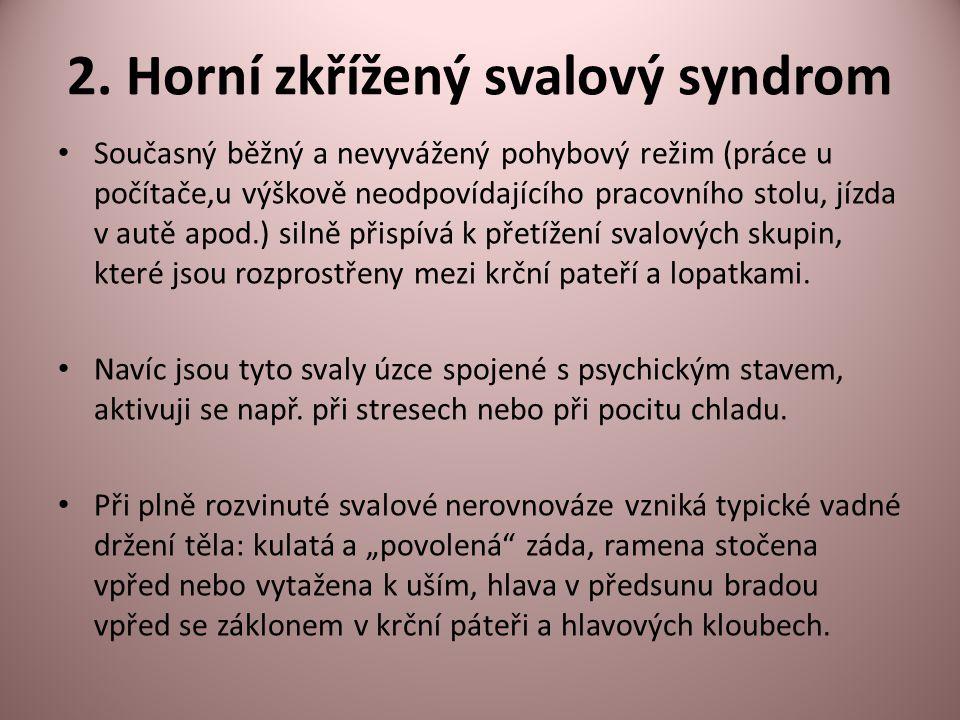 2. Horní zkřížený svalový syndrom