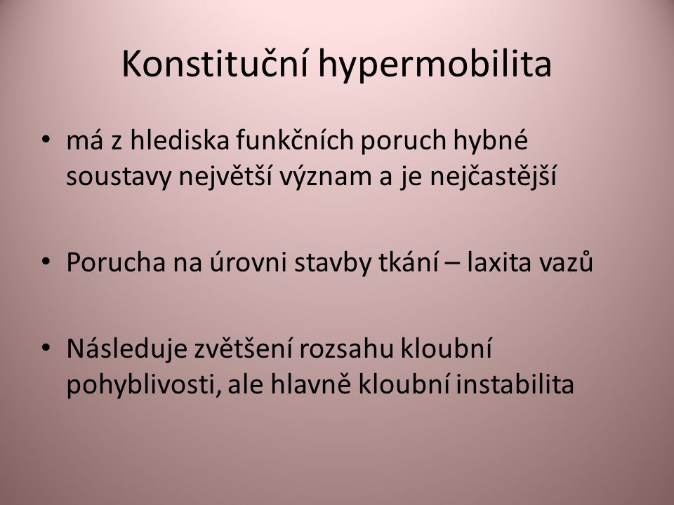 Konstituční hypermobilita