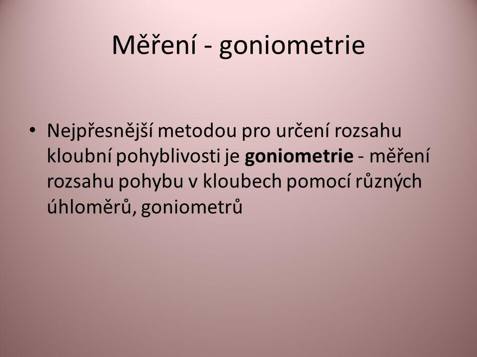 Měření - goniometrie