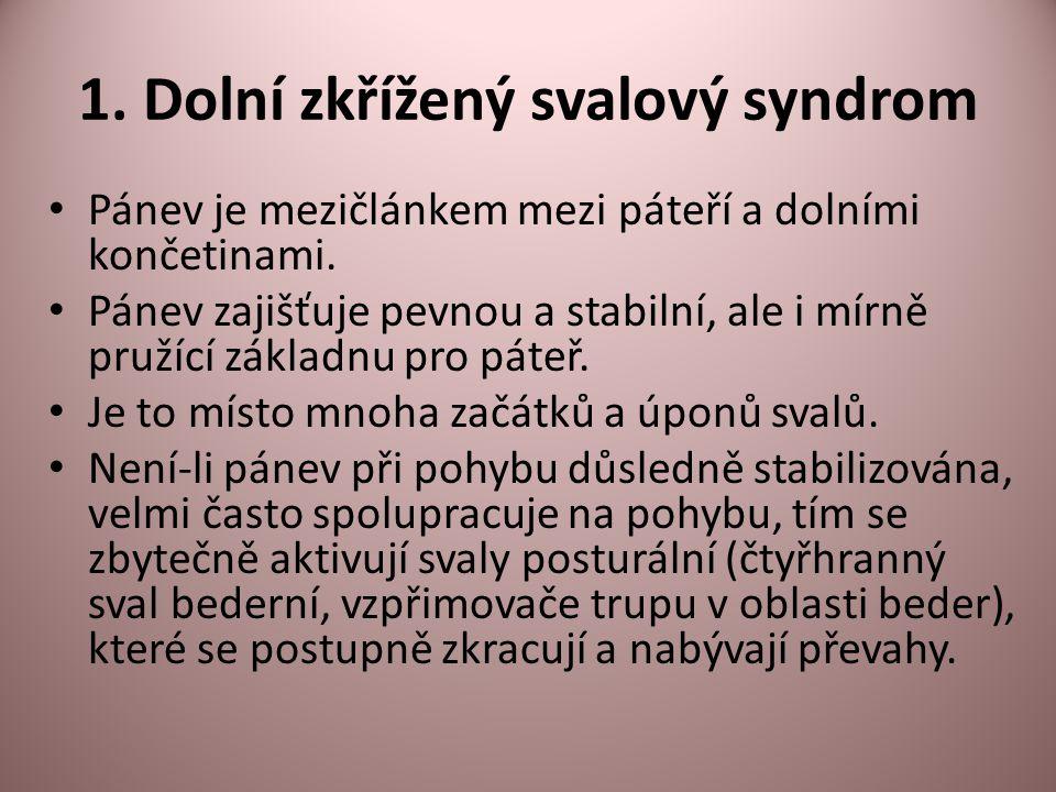 1. Dolní zkřížený svalový syndrom