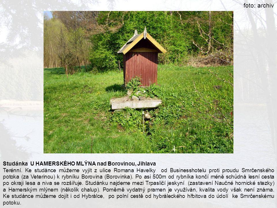foto: archiv Studánka U HAMERSKÉHO MLÝNA nad Borovinou, Jihlava