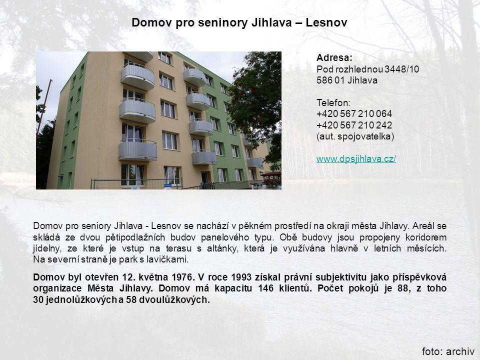 Domov pro seninory Jihlava – Lesnov
