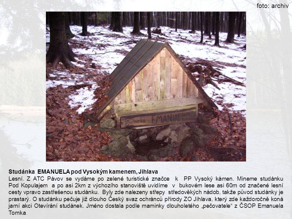 foto: archiv Studánka EMANUELA pod Vysokým kamenem, Jihlava