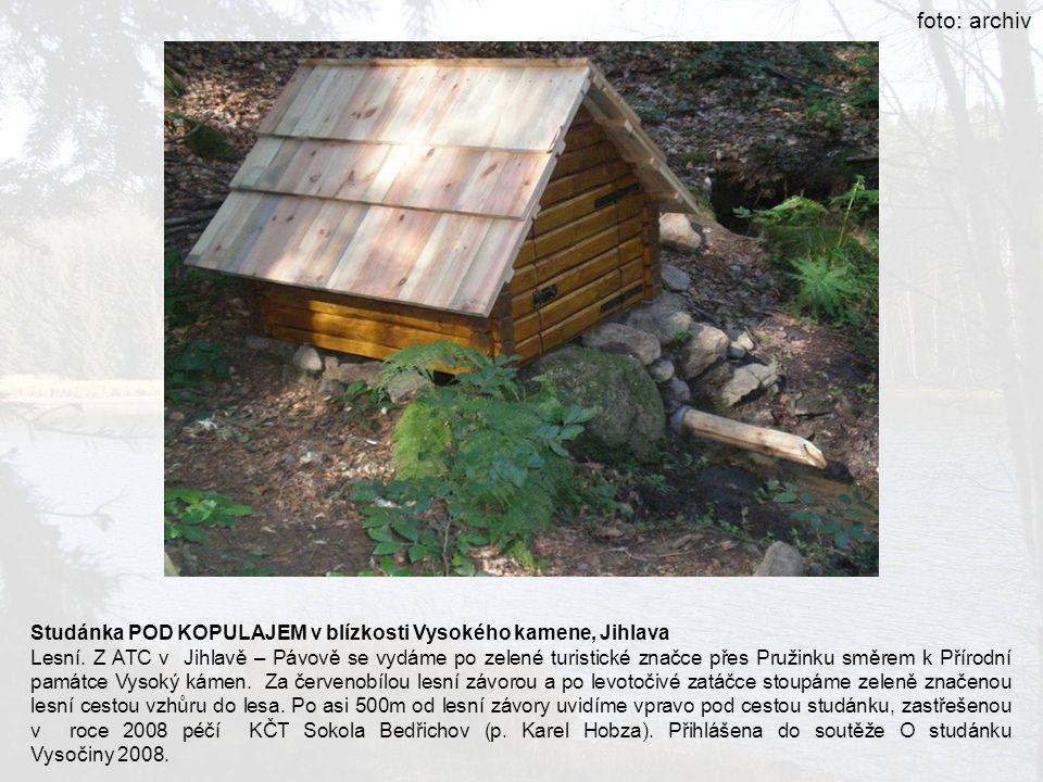 foto: archiv Studánka POD KOPULAJEM v blízkosti Vysokého kamene, Jihlava.