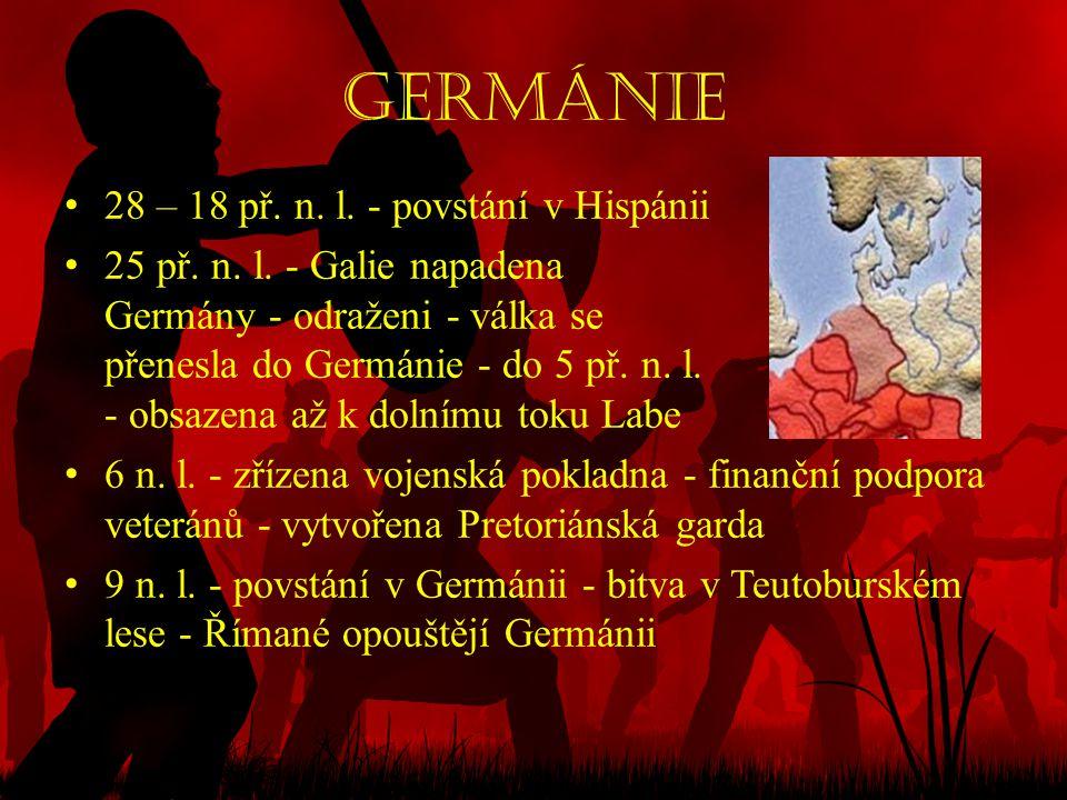 Germánie 28 – 18 př. n. l. - povstání v Hispánii
