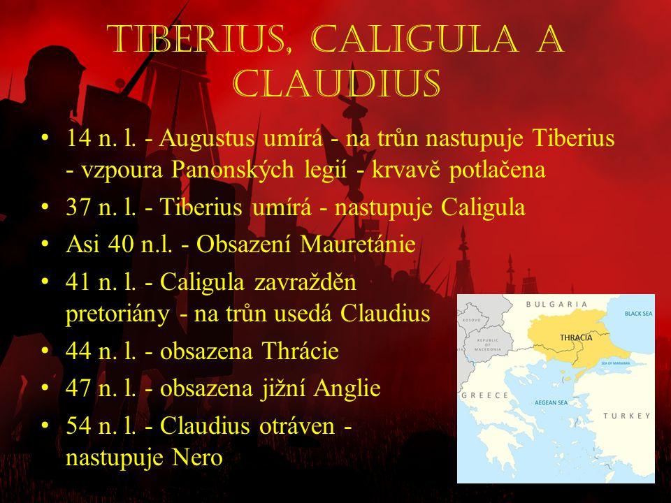 Tiberius, Caligula a Claudius