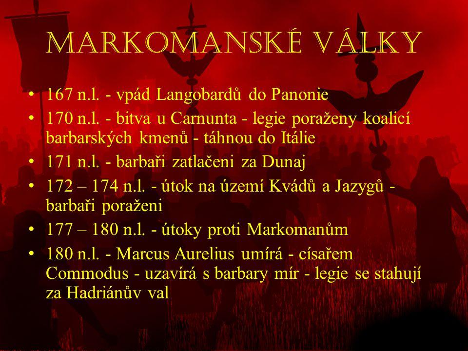 Markomanské války 167 n.l. - vpád Langobardů do Panonie