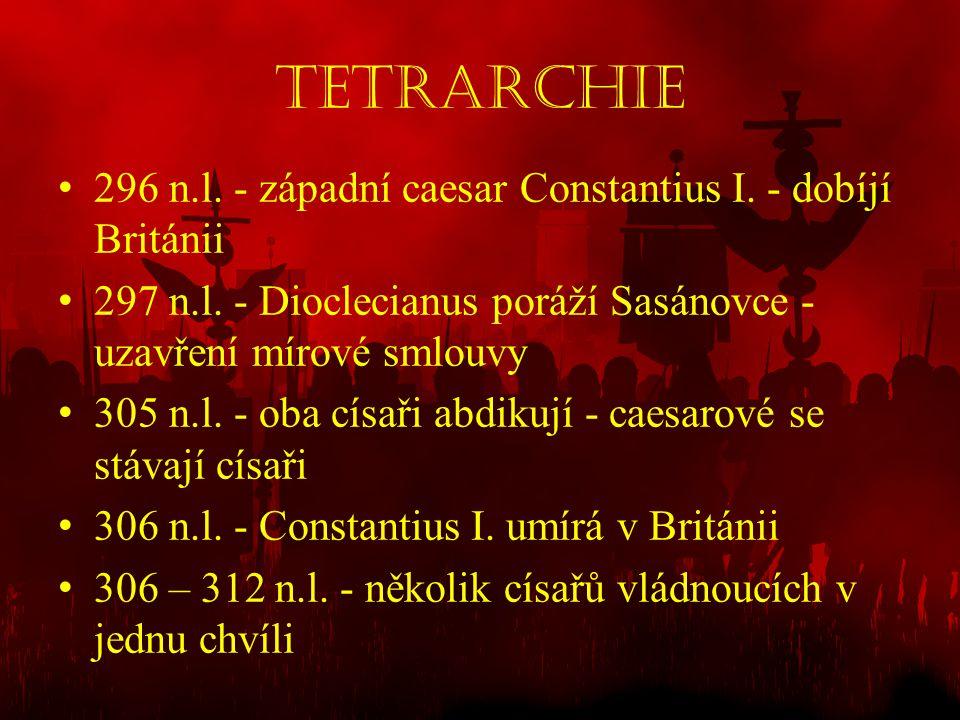Tetrarchie 296 n.l. - západní caesar Constantius I. - dobíjí Británii