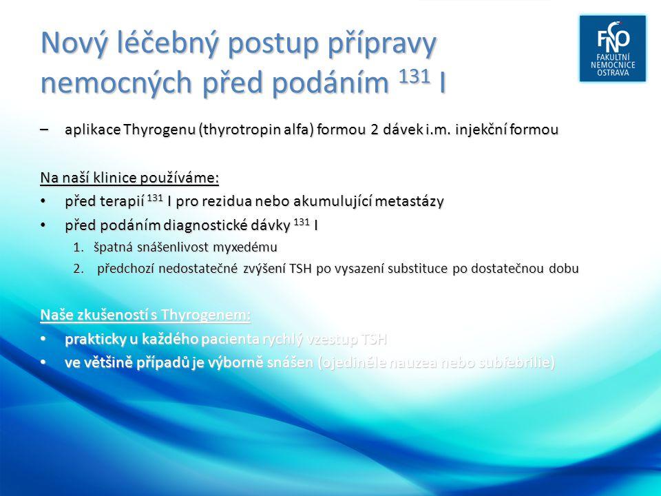 Nový léčebný postup přípravy nemocných před podáním 131 I