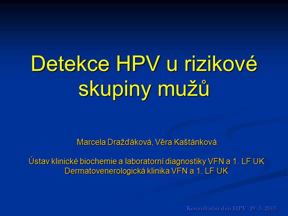 Detekce HPV u rizikové skupiny mužů