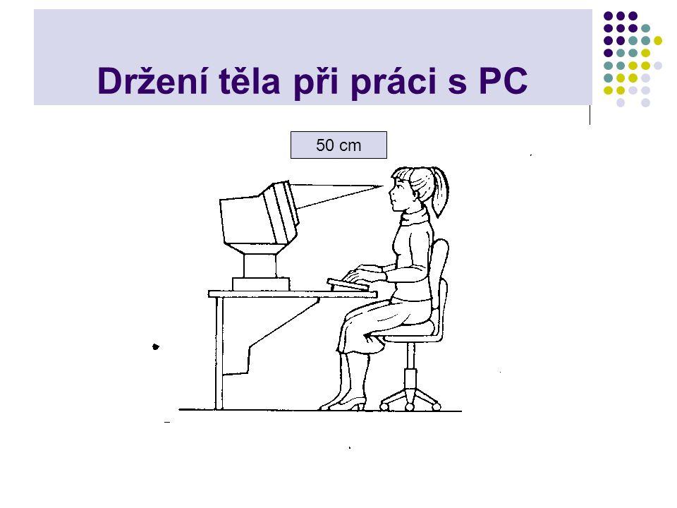 Držení těla při práci s PC
