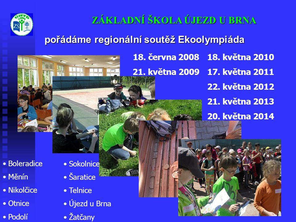 pořádáme regionální soutěž Ekoolympiáda