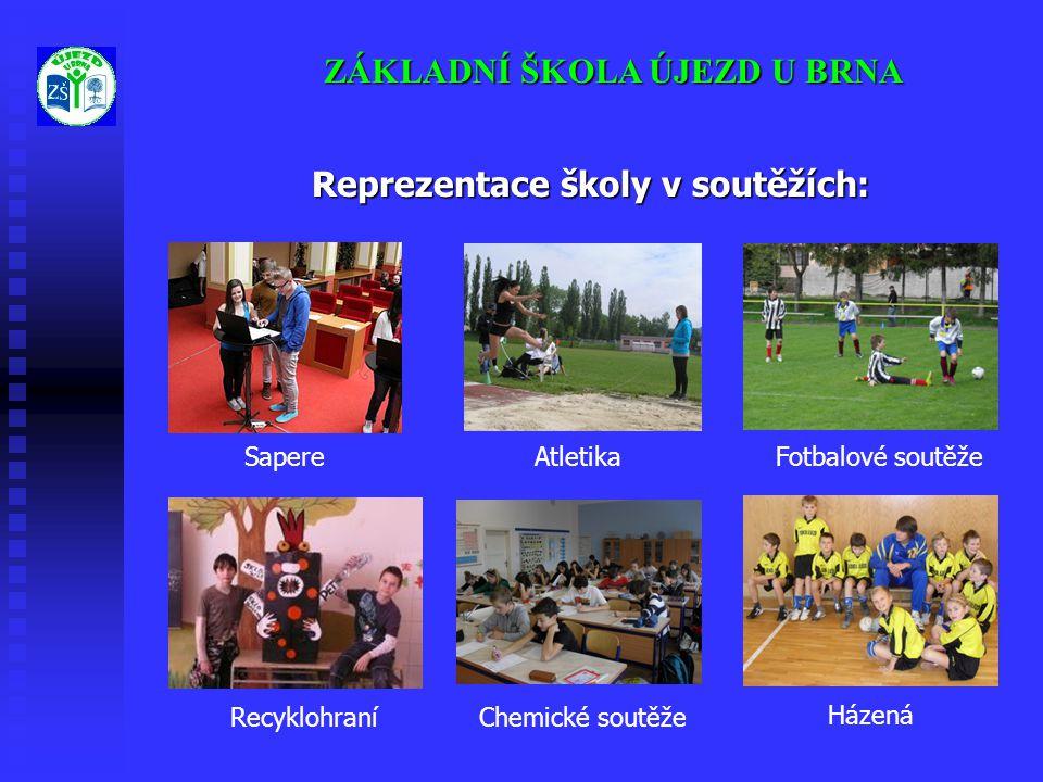 Reprezentace školy v soutěžích:
