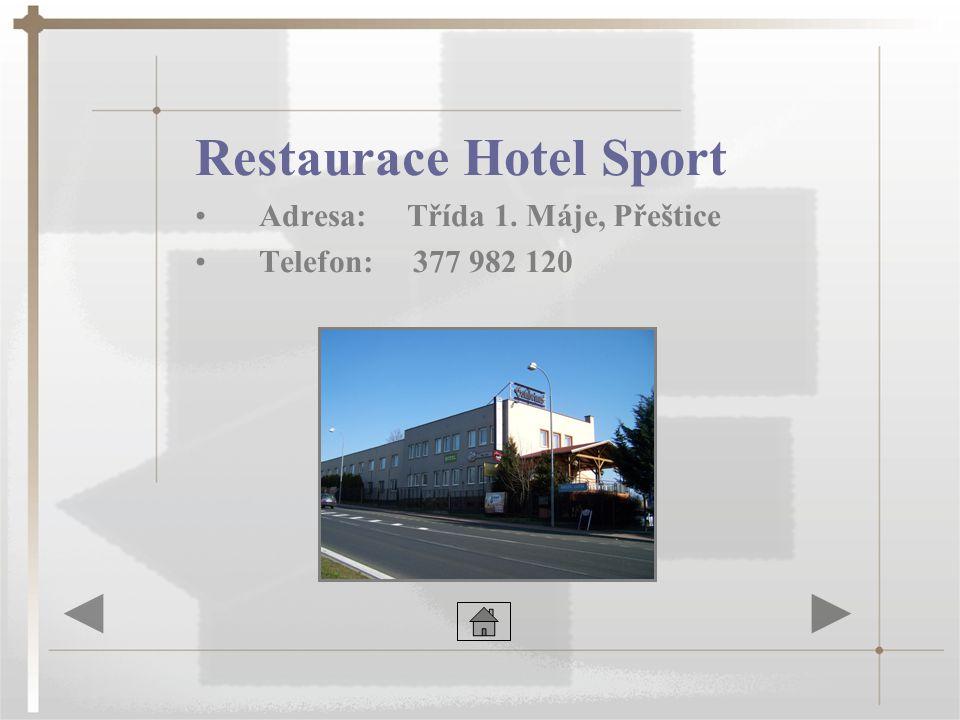 Restaurace Hotel Sport