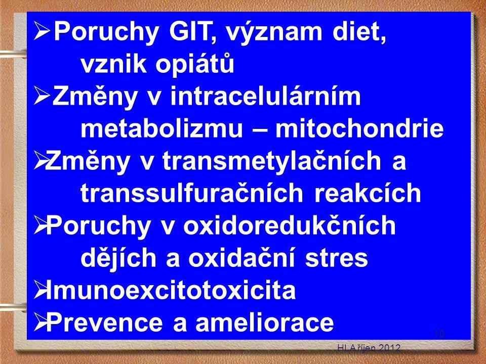 Poruchy GIT, význam diet, vznik opiátů