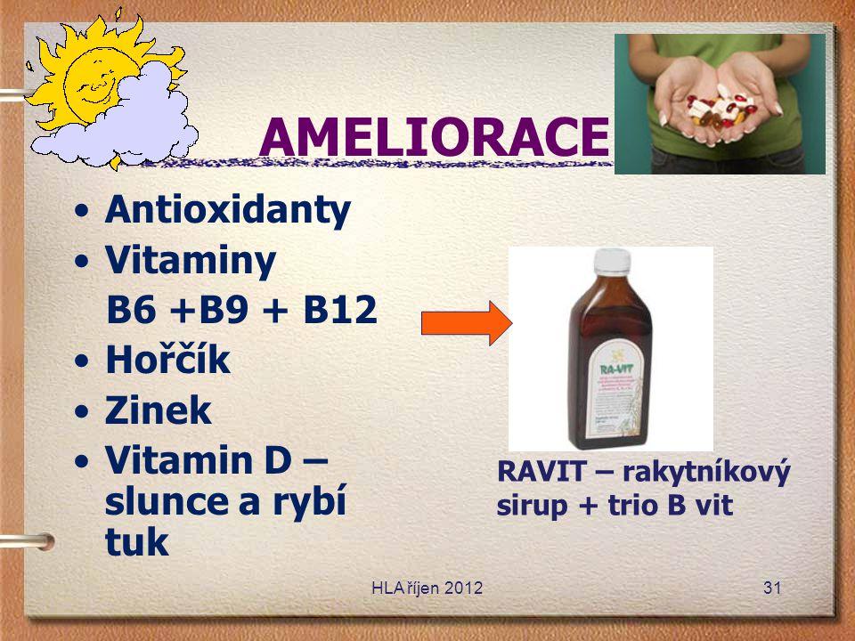 AMELIORACE Antioxidanty Vitaminy B6 +B9 + B12 Hořčík Zinek
